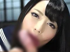 高画質 超美少女JKがカメラ目線でフェラしまくり大量射精