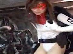 ヒロイン凌辱 スーパーヒロインさん腹パンされて悶絶のリョナ動画