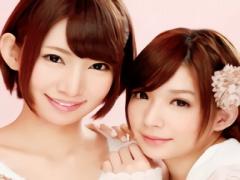 ショートヘアーの激カワ美少女たち2人にご奉仕されながらのハーレム3Pセッ...