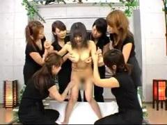 6人の女の子からレズ責めされちゃう清楚な女性 おっぱい ベロチュー キス ...
