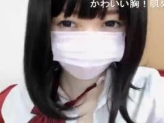 ライブチャット めちゃくちゃ可愛い黒髪清楚系JKっぽい美少女 M字開脚で美...